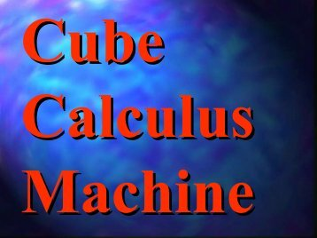 Cube Calculus Machine