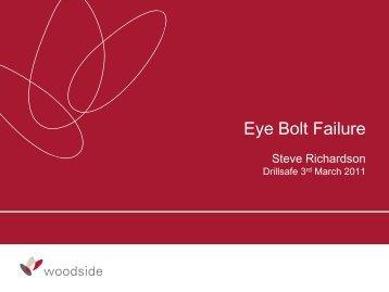 Eye Bolt Failure - DrillSafe