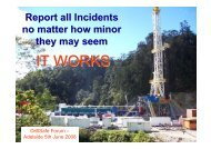 Incidents. - Drillsafe.org.au