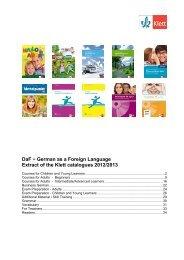 DaF - German as a Foreign Language 2012/2013 - Ernst Klett Verlag