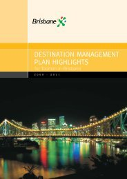 destination management plan highlights - Tourism Queensland