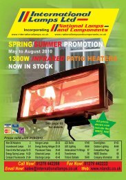 SPRING/SUMMER PROMOTION - National Lamps and Components