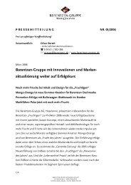 aktualisierung weiter auf Erfolgskurs  - Berentzen-Gruppe