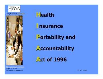 What is HIPAA? - ITaP - Purdue University
