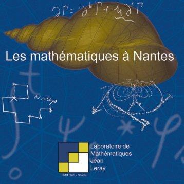brochure - Laboratoire de mathématiques - Université de Nantes