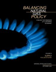 BALANCING POLICY - The National Petroleum Council