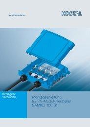Montageanleitung für PV-Modul-Hersteller SAMKO 100 01 - Kostal