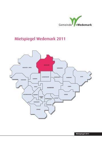 Mietspiegel Wedemark.indd - Pro Wohnen Hamburg