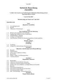 Sächsische Bauordnung (SächsBO) - Bauordnungen