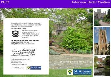 Interview under caution - St Albans City & District Council