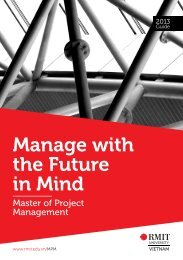 Download Master of Project Management brochure 2013