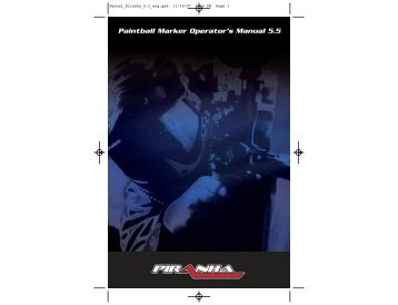 Paintball Marker Operator's Manual 5.5 - Paintball Solutions