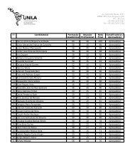 Lista de candidatos brasileiros aprovados - Unila