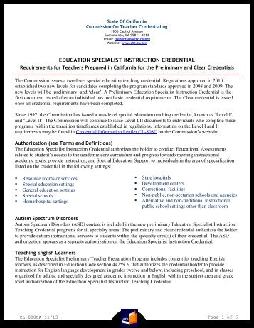 Form 41-4 - Commission on Teacher Credentialing - State of California