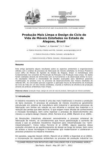 Produção Mais Limpa e Design do Ciclo de Vida de Móveis ...