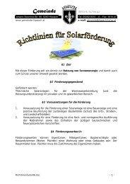 Richtlinien für Solarförderung - Gemeinde Hippach