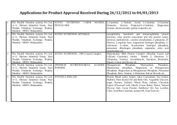 Applications ,PDF - Food Safety and Standards Authority of India