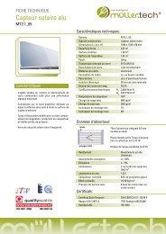Fiche technique (370.73 KB) - M.Tech Italia