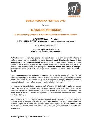 """""""IL VIOLINO VIRTUOSO"""" - Emilia Romagna Festival"""