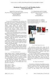 Simulation Programs for Load Shedding Studies: Expermintal ... - ijssst