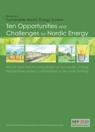 Ten Opportunities and Challenges for Nordic Energy
