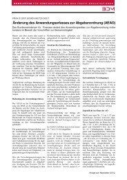 Änderung des Anwendungserlasses zur Abgabenordnung (AEAO)