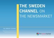 THE SWEDEN CHANNEL On The newSMaRKeT - Sweden Abroad