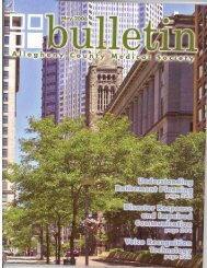 May 2006 Bulletin - Allegheny County Medical Society