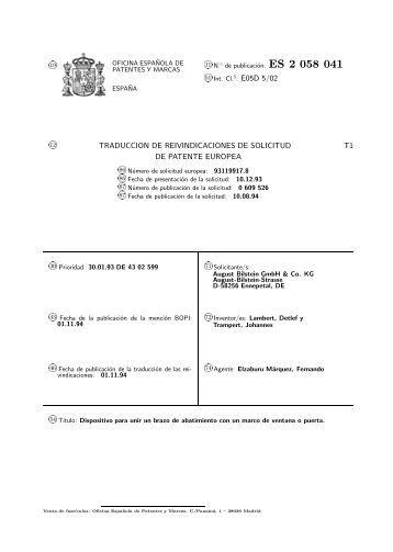 Racores din 2353 iso 8434 for Oficina de patentes y marcas sevilla