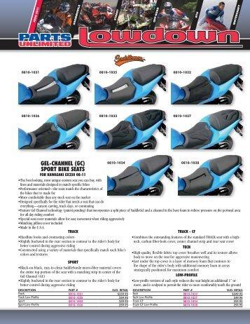GEL-CHANNEL (GC) SPORT BIKE SEATS - Parts Unlimited