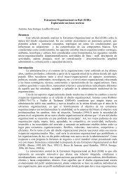 Estructura Organizacional en Red (EOR): - Desarrollo Organizacional