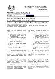 JADUAL A-II/1 - Jabatan Laut Malaysia