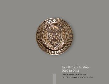 Faculty Scholarship 2009 to 2012 - SUNY Buffalo Law School ...
