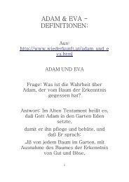 Adam & Eva - Definitionen: