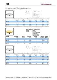 Mirror Screws / Decorative Screws - Dransfeld GmbH & Co. KG