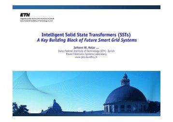 Intelligent Solid State Transformers (SSTs) - Power Electronics ...