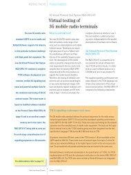 Virtual testing of 3G mobile radio terminals - Rohde & Schwarz