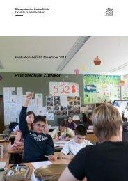 Schulbeurteilung der Schule Zumikon [PDF, 1.00 MB] - Gemeinde ...