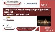Impatto Cloud computing sui processi aziendali - Camera di ...