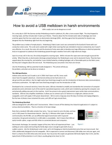 How to avoid a USB meltdown in harsh ... - Automation.com