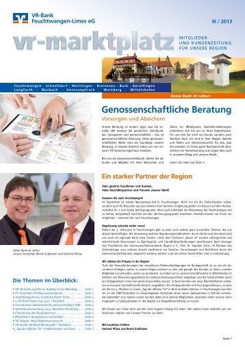 Ausgabe Ii Quartal 2013 Vr Bank Feuchtwangen Limes Eg