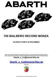 700 BIALBERO RECORD MONZA Elenco Ricambi.pdf - Abarth-e-Co