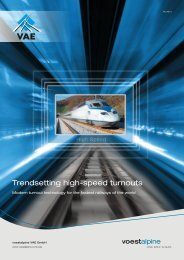 Trendsetting high-speed turnouts - voestalpine