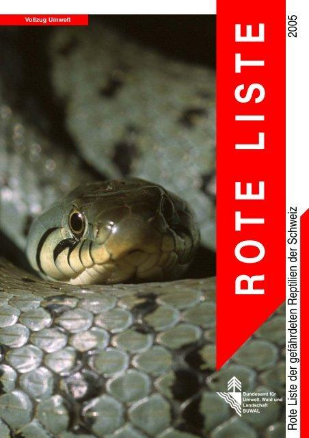 Rote Listen der Reptilien 2005.pdf - Karch