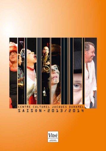 Le Théâtre, saison 2013-2014 - Office de tourisme de Vitré