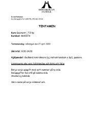 TENTAMEN - Högskolan i Gävle