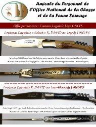 Offre permanente : Couteau Laguiole Logo ONCFS