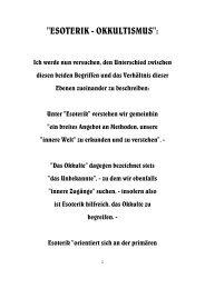 Esoterik - Okkultismus: