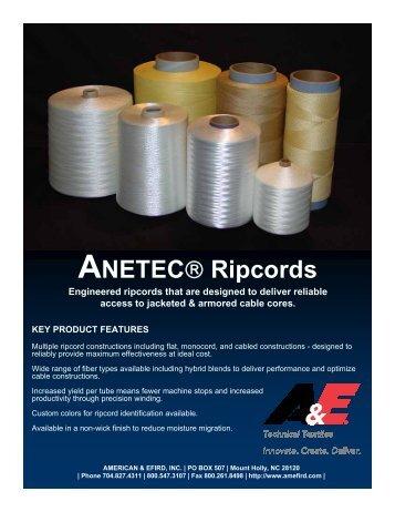 Download Ripcord Flyer (pdf) - American & Efird, Inc