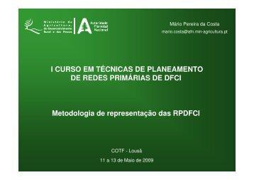 Metodologia de representação das RPDFCI - ICNF